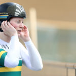Stephanie Morton of Australia  during the New Zealand Oceania Track Championships on November 20, 2017 in Cambridge, New Zealand. Mandatory Credit: Dianne Manson