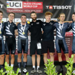 New Zealand set the second fastest men's team pursuit time in history at the Cambridge Track World Cup.
