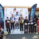 Oceania BMX Championship's men's podium.